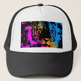 COREY TIGER 80's NEW WAVE TIGER FACE Trucker Hat