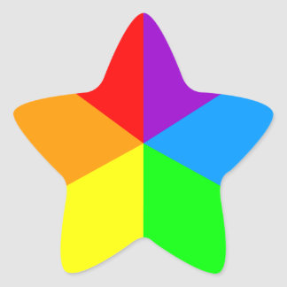 Corey Tiger 80s Rainbow Wedges Star Stickers