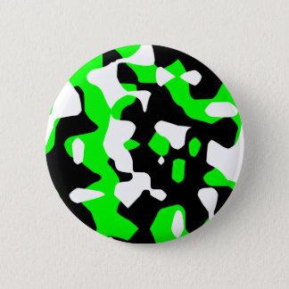 Corey Tiger 80s Retro Green Camouflage (Camo) 6 Cm Round Badge