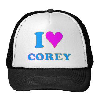 COREY TIGER 80's Retro I LOVE COREY Cap