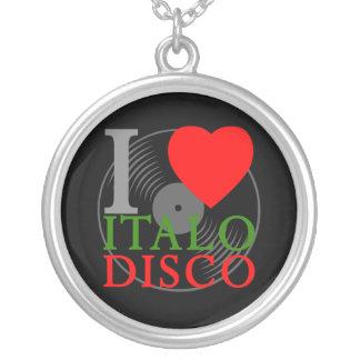Corey Tiger 80s Retro I Love Italo Disco Necklace