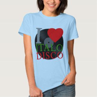 Corey Tiger 80s Retro I Love Italo Disco T-Shirt
