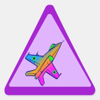 Corey Tiger 80s Retro Jet Fighter Plane Sticker