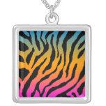 Corey Tiger 80s Retro Neon Tiger Print Necklace