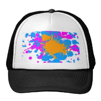 Corey Tiger 80s Retro Paint Splatter (Multicolor) Cap