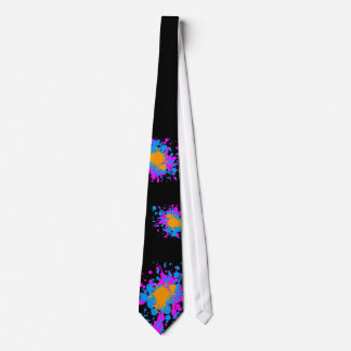 Corey Tiger 80s Retro Paint Splatter (Multicolor) Tie