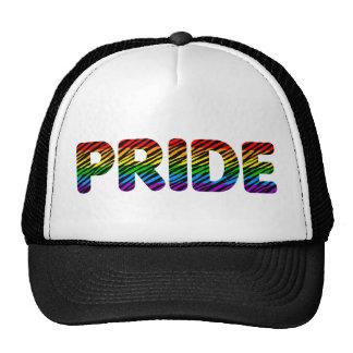 Corey Tiger 80s Retro Pride Rainbow Hats