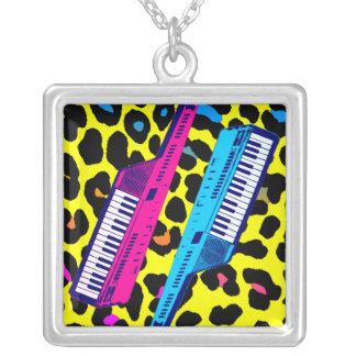 Corey Tiger 80s Retro Vintage Keytar Necklace