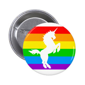 COREY TIGER 80s RETRO VINTAGE RAINBOW UNICORN 6 Cm Round Badge