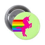 Corey Tiger 80S Retro Vintage Rainbow Unicorn Pin