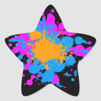 Corey Tiger 80s Splatter Paint Sticker