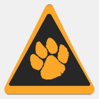 Corey Tiger 80s Tiger Claw Triangle Sticker