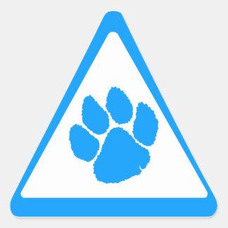 Corey Tiger 80s Tiger Claw Triangle Triangle Sticker