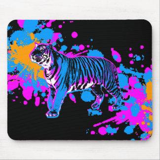 Corey Tiger 80s Tiger Paint Splatter Mousepad