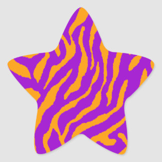 Corey Tiger 80s Tiger Stripes Star Stickers