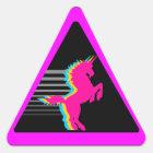 Corey Tiger 80s Unicorn Triangle Sticker