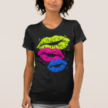Corey Tiger 80s Vintage Lips & Stars Kisses T-Shirt