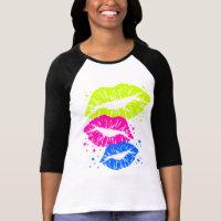 Corey Tiger 80s Vintage Lips & Stars Kisses T Shirts