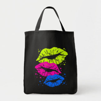 Corey Tiger 80s Vintage Lips & Stars Kisses Tote Bag
