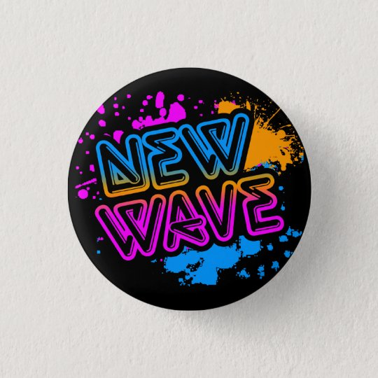 Corey Tiger 80s Vintage New Wave Neon Splatter 3 Cm Round Badge
