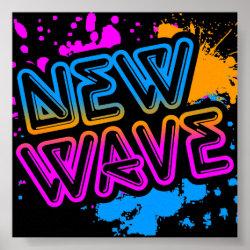 Corey Tiger 80s Vintage New Wave Neon Splatter Print