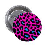Corey Tiger 80s Vintage Pink Leopard Pinback Buttons
