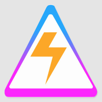 Corey Tiger 80s Zap Lightning Bolt Triangle Sticker