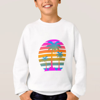 COREY TIGER RETRO SUNSET PALM TREES SWEATSHIRT