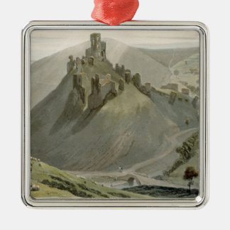 Corfe Castle, from 'A Voyage Around Great Britain Christmas Tree Ornaments