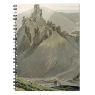 Corfe Castle, from 'A Voyage Around Great Britain Spiral Notebook