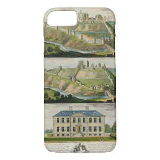 Corfe Castle in its original state, as a ruin, and iPhone 7 Case