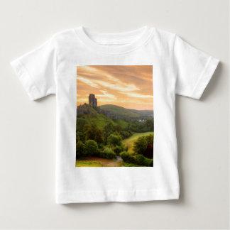 Corfe Castle Sunrise Baby T-Shirt