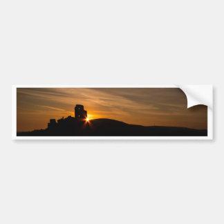 Corfe Castle Sunrise Bumper Sticker