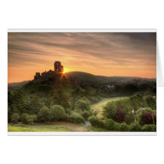 Corfe Castle Sunrise Card