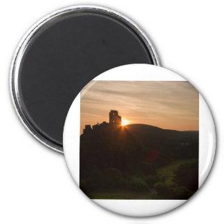 Corfe Castle Sunrise Magnet