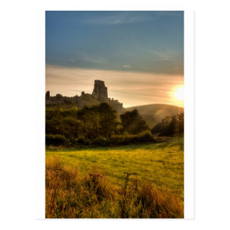 Corfe Castle Sunrise Postcard