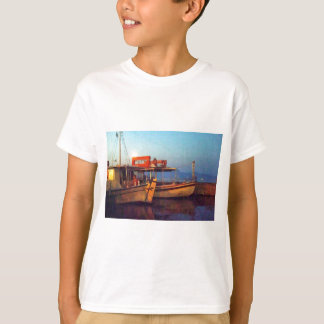 Corfu Harbour At Night T-Shirt