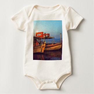 Corfu Town Harbour - Greek Harbour Baby Bodysuit