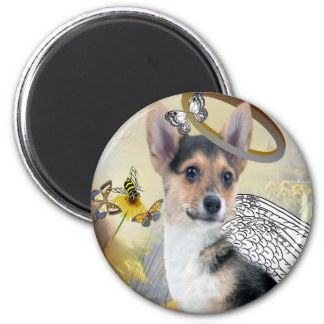 Corgi Angel Magnets