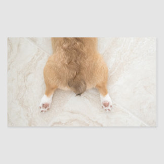 corgi butt rectangular sticker
