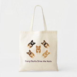 Corgi Butts Drive Me Nuts Bags