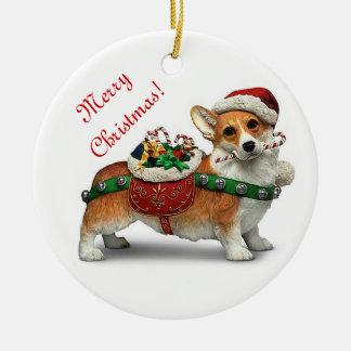 Corgi Christmas Ornament