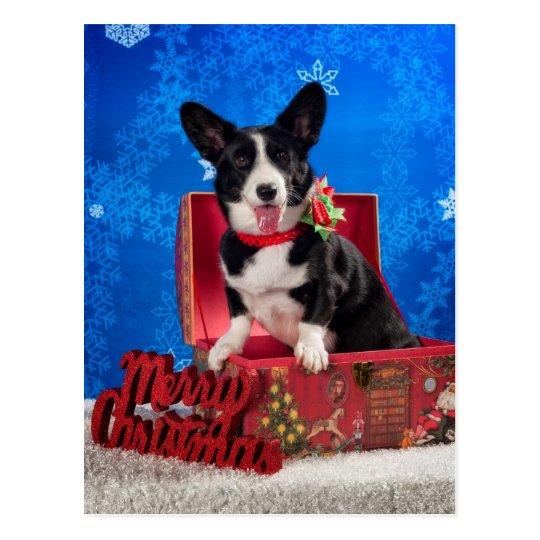 Corgi Christmas Postcard