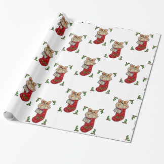Corgi Christmas Stocking Wrapping Paper