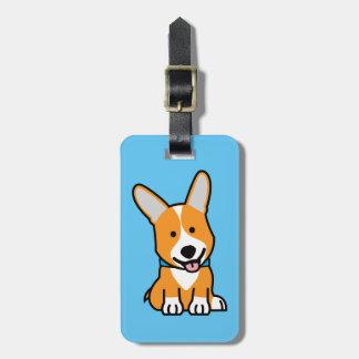 Corgi Corgis dog puppy doggy happy Pembroke Welsh Luggage Tag