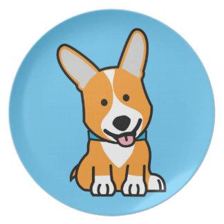 Corgi Corgis dog puppy doggy happy Pembroke Welsh Plate