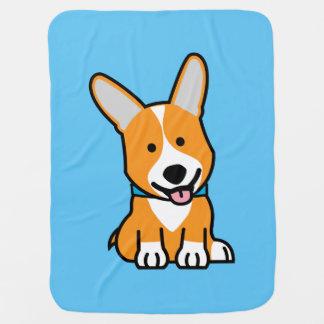 Corgi Corgis dog puppy doggy happy Pembroke Welsh Receiving Blankets