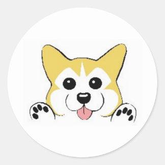 Corgi Cuteness Classic Round Sticker