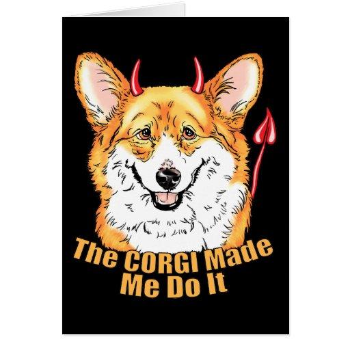 Corgi Devil Made Me Do It Cards