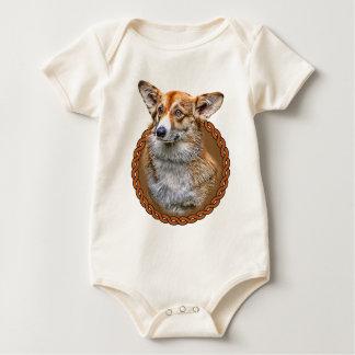 Corgi Dog 001 Baby Bodysuit